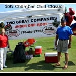 Jerri and Chris at the 2012 Chamber Golf Classic